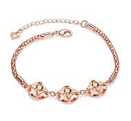 Bracelet Chaînes & Bracelets Zircon / Cuivre / Plaqué Or Rose Soirée / Quotidien / Décontracté Bijoux Cadeau Or Rose,1pc