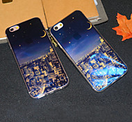 New York Nightscape Blu-ray Reflective Glitter Semitransparent Soft iphone Back  Cover for iphone 6s/iphone 6