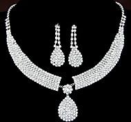 Жен. Набор украшений Серьги-слезки Ожерелья с подвесками Стразы Свадьба Elegant бижутерия Стразы Сплав Свисающие Ожерелья Серьги