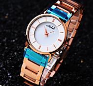 haut de gamme cadran rond vie de la mode de bracelet en acier inoxydable montre à quartz étanche des femmes