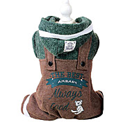 Dog Hoodie / Clothes/Jumpsuit / Clothes/Clothing Green Winter / Spring/Fall Letter & Number / Color Block Fashion / Keep Warm
