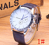 Men's Fashion Watch Classic Blue Pointer Fashion Business PU Band Quartz Watch Wrist Watch Cool Watch Unique Watch