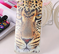 Leopard Pattern TPU IMD Material Back Cover for Huawei P8