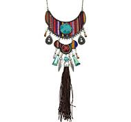 Latest Indian Style Ethnic Imitation Gemstone Long Pendant Necklace for Women