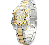 GND Women Diamond Quartz Watch with Stainless Steel Band Oval Dial Cool Watches Unique Watches