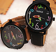YAZOLE Watches Fashion Round Colour Digital Men's Watches Analog Quartz Wristwatch Gift idea