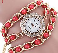 Ladies' Watch Pattern Set Auger Multicolor Dial Pearl Quartz Watch