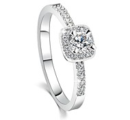 2016 Engagement Ring Real 18K Platinum Plated Micro Inlay AAA Zircon Fashion RingsImitation Diamond Birthstone