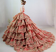 Party/Evening Dresses For Barbie Doll Flaxen Dresses For Girl's Doll Toy