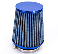 "Replacement 76mm 3"" Plastic Hose Clamp Conical Mesh Car Air Intake Filter Blue"