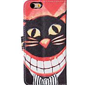 Für iPhone 5 Hülle Kreditkartenfächer / Geldbeutel / Flipbare Hülle Hülle Handyhülle für das ganze Handy Hülle Katze Hart PU - Leder