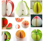 1PC Creative Personality Stationery Wholesale Diy Fruit Post-It Notes Apple Post-It Notes(Style random)