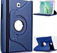 Pour Samsung Galaxy Coque Avec Support / Clapet / Rotation 360° Coque Coque Intégrale Coque Couleur Pleine Cuir PU Samsung Tab S2 8.0