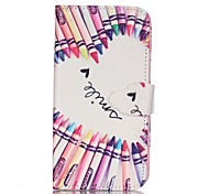 Finger Pencil Love Painted PU Phone Case for Galaxy S7/S7edge/S7Plus