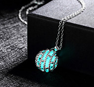 New Magical Glow in the Dark Luminous Honey Ball Pendant Necklace