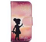 Girl Painted PU Phone Case for iphone5SE