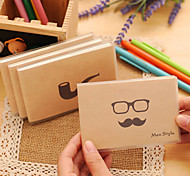 1PC Beard Rubber Sleeve Notebook / Portable Jotter/ Creative Jotter