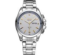 Men's Fashion Watch Disc Scale Double Calendar Quartz Watch Movement Waterproof Strip (Assorted Colors)