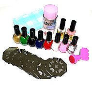 26pcs nail art kit imprimé