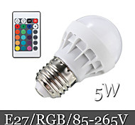 5W E26/E27 LED-bollampen Verzonken ombouw 6LED SMD 5050 500 lm RGB Op afstand bedienbaar / Decoratief AC 85-265 V 1 stuks