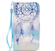 Fantasy Campanula Pattern PU Leather Lanyard phone Case For Samsung Galaxy A3(2016)/A5(2016)