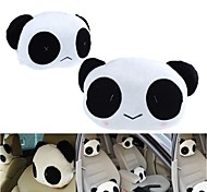 ZIQIAO 1 Pair Cute Lovely Panda Pattern Car Seat Neck / Head Pillow Soft Back Cushion Headrest Neck Pillow