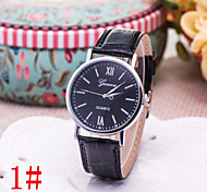 Ladies' Fashion Watch Fashion Lady Pu Belt Big Dial Watch