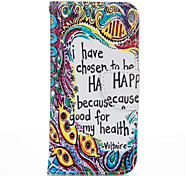 Totem Letter PU leather with Stand Case for Samsung G360