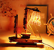 Creative Wood Light  Sailing Lamp Decoration Desk Lamp Bedroom Lamp Gift for Kid
