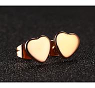 oreilles coeur en acier inoxydable