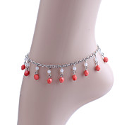 Fashion Roundness Beads Pendant Anklet
