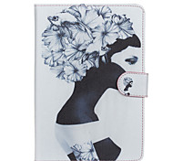 Girl Pattern PU Leather Full Body Case with Stand for iPad Air 2/iPad 6