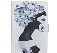 caja de cuerpo completo patrón de la muchacha de la PU de cuero con soporte para el aire del ipad 2 / ipad 6