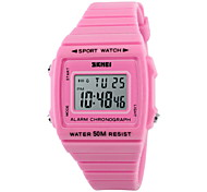 SKMEI® Women's Fashion Sporty Candy Color LCD Digital Waterproof Sport Watch Cool Watches Unique Watches