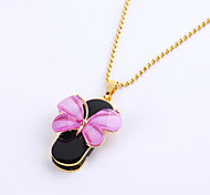 64GB Necklace Butterfly Jewelry USB 2.0 Rotatable Flash Memory Stick Drive U Disk ZP-01/ZP-04/ZP-09