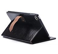 auto del sueño y despertar cubierta de cuero de la PU con el caso del soporte del folio trasero duro para mini4 iPad (colores surtidos)