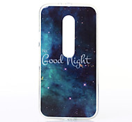 Good Night Pattern TPU Soft Case for Motorola Moto G3