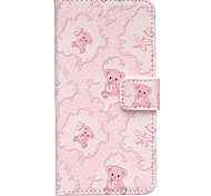Cute Bear Pattern Embossed PU Leather Case for iPhone 6/ iPhone 6S