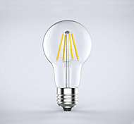 1 pcs  E26/E27  4W 4 COB 400 lm Warm White A60(A19) edison Vintage LED Filament Bulbs AC 85-265 V