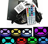 Z®ZDM Waterproof 5M 300X5050 SMD RGB LED Strip Light and 44Key Remote Controller (AC110-240V)