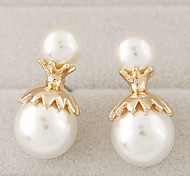 Women's New Boutique Fashion Sweet Pearl Unique Stud Earrings