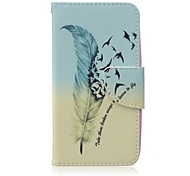 Feather Painted PU Phone Case for Huawei Y560