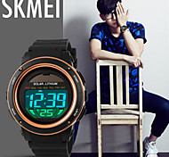 SKMEI Men's Digital Silicone Band 30m Water-resisstant Multi-Functional Dual Time Zones Sports Watch