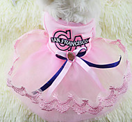 Sweet Bowknot Pet Lace Dress