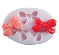 Три отверстия бантом Овальный силиконовые формы Фондант Пресс-формы Сахар Craft Инструменты Смола цветы Плесень пресс-формы для тортов