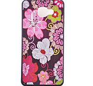 caja del teléfono de TPU patrón de flores para Samsung Galaxy a3 (2016) / A5 Galaxy (2016) / A7 Galaxy (2016)