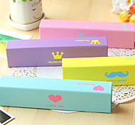 1PC Creative Stationery Candy Color Fashion Element Small Carton Student Pencil Box(Style random)