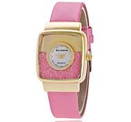 Women's Fashion Watch Simulated Diamond Watch Quartz PU Band Sparkle Black Brown Pink Ivory