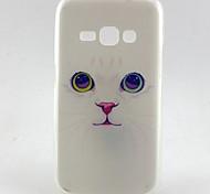 el patrón de gato blanco TPU caso suave para j5 Galaxy (2016) / J1 Galaxy (2016) / J7 (2016) / J7