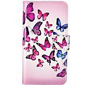 caja de cuero de la PU en relieve patrón de mariposa para iPod touch5